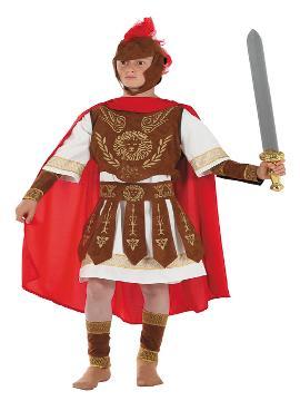 disfraz de centurión romano para niño. Si quieres sentirte como un soldado romano sólo tienes que disfrutar en tus fiestas de disfraces. Este disfraz es ideal para tus fiestas temáticas de disfraces romanos y egipcios. fabricacion nacional