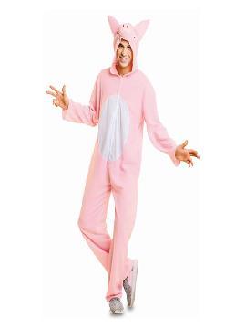 disfraz de cerdito rosa para adulto