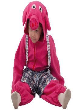disfraz de cerdito rosa para bebe. Compra tu disfraz barato infantil para tu grupo. Este traje es ideal para tus fiestas temáticas de cerdito y animales.