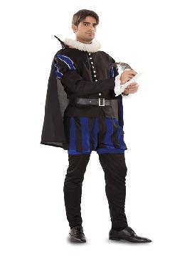 disfraz de cervantes para hombre. Serás el escritos de Don Quijote de la Mancha. Es ideal para tus Fiestas temáticas, actuaciones. Este disfraz es ideal para tus fiestas temáticas de disfraces epoca y medievales para la edad media adulto.