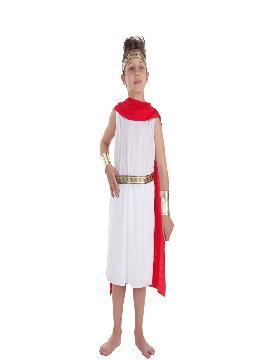 disfraz de cesar romano luxus para niño