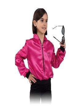 disfraz de chaqueta pink ladies niña