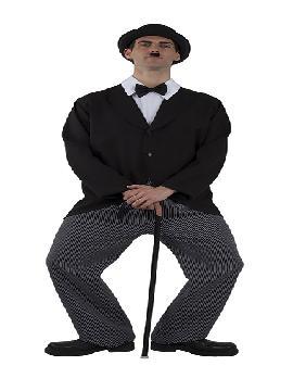 disfraz de charles chaplin adulto. Es perfecto para convertirte en el famoso protagonista del cine mudo más internacional con este esmoquin. Emula a este personaje y pásatelo en grande en tus Fiestas Temáticas o en Carnaval con su peculiar forma de andar y de comunicarse.