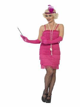 disfraz de charleston años 20 rosa mujer