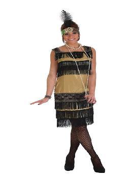 disfraz de charleston casino para mujer