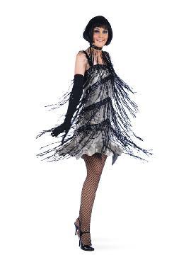 disfraz de charlestón con flecos mujer