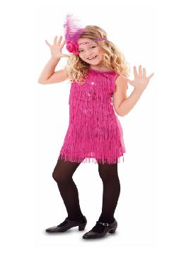 disfraz de charleston fucsia para niña