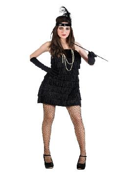 disfraz de charlestón negro mujer
