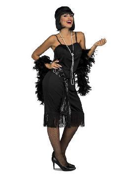 disfraz de charleston negro para mujer