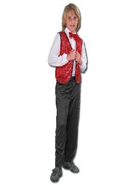 disfraz de charlestón rojo niño