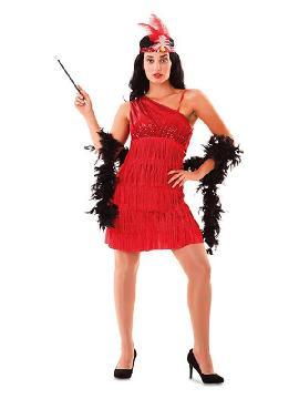 disfraz de charleston rojo para mujer