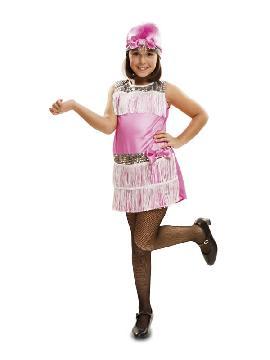 disfraz de charleston rosa niña