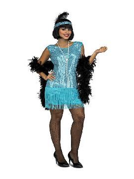 disfraz de charleston turquesa para mujer