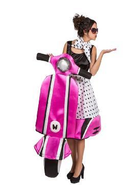 disfraz de chica años 50 sobre ruedas adulto
