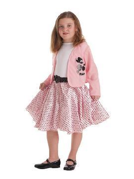 disfraz de chica de los años 50 para niña