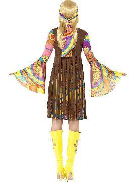 disfraz de hippie estupenda de los años 60 mujer