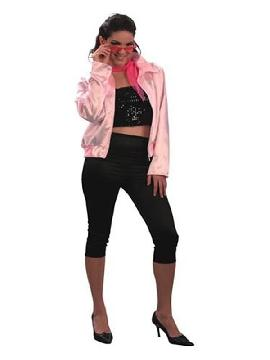 disfraz de chica grease para mujer adultos. Te convertirás en la protagonista de la famosa película cinematográfica grease en el carnaval o despedidas,Este disfraz es ideal para tus fiestas temáticas de disfraces hippies, Años 60,70 y 80 para mujer adultos.
