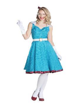 disfraz de chica pin up azul mujer