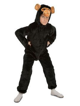 disfraz de chimpance peludo para niño