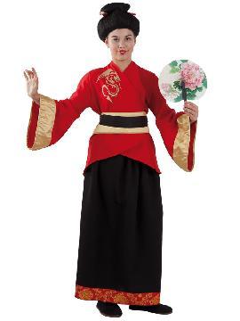 disfraz de china lujo niña infantil. Este comodísimo traje es perfecto para carnavales, espectáculos, cumpleaños y tambien para las fiesta de los colegios.Este disfraz es ideal para tus fiestas temáticas de disfraces de ninja,chinos,orientales y geishas. fabricacion nacional