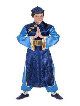 disfraz de chino azul para hombre