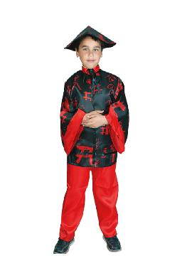 disfraz de chino niño negro