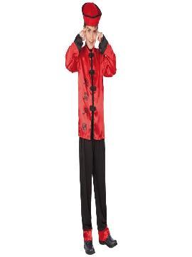 disfraz de chino rojo niño infantil. Este comodísimo traje es perfecto para carnavales, espectáculos, cumpleaños y tambien para las fiesta de los colegios.Este disfraz es ideal para tus fiestas temáticas de disfraces de ninja,chinos,orientales y geishas para niños infantiles.