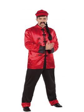 disfraz de chino rojo para hombre adulto