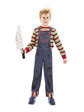 disfraz de chucky niño poseido infantil