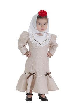 disfraz de chulapa beige para bebe