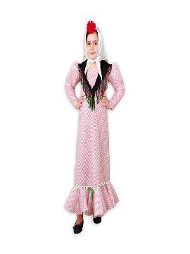 disfraz de chulapa con manton niña