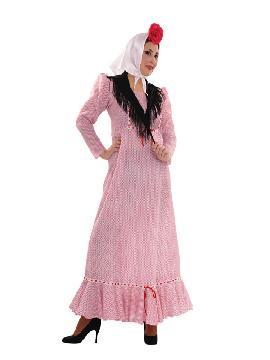 disfraz de chulapa con manton mujer