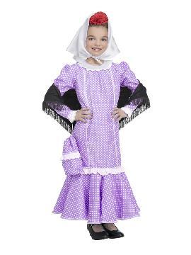 disfraz de chulapa lila para niña