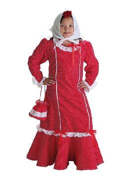 disfraz de chulapa madrileña con bolso para niña