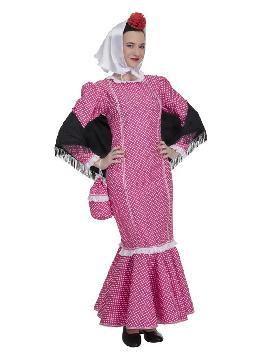 disfraz de chulapa rosa para mujer