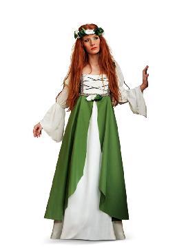 disfraz de clarisa medieval verde mujer