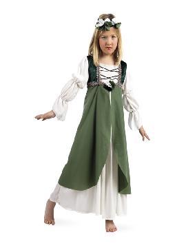 disfraz de clarisa medieval verde niña