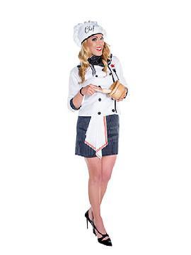 disfraz de cocinera chef mujer adulto. Te entrerá el gusanillo de la alta cocina y desearás preparar para tus invitados de Fiestas Temáticas. Este disfraz es ideal para tus fiestas temáticas de disfraces de uniformes de trabajo y deporte para hombre adultos.