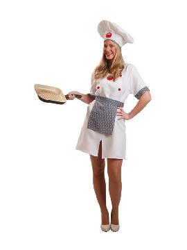 disfraz de cocinera chef para mujer