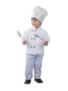 disfraz de cocinero azul niño