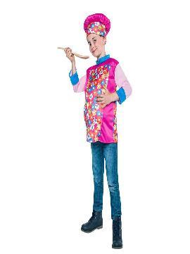 disfraz de cocinero barrigon infantil