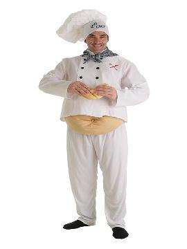 disfraz de cocinero barrigon para adulto