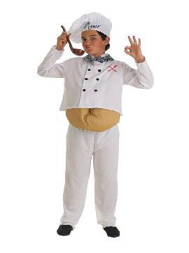 disfraz de cocinero barrigon para niño