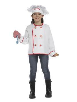 disfraz de cocinero con accesorios para niños