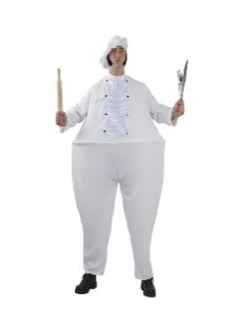 disfraz de cocinero gordo para hombre