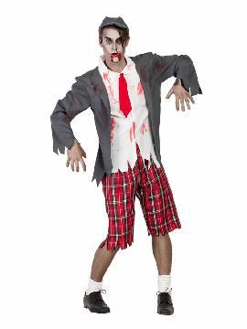 disfraz de colegial zombi hombre