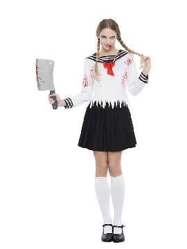 disfraz de colegiala japon zombie mujer