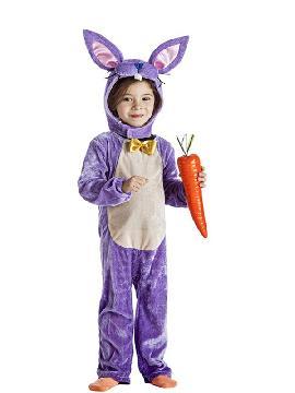 disfraz de conejita lila niña