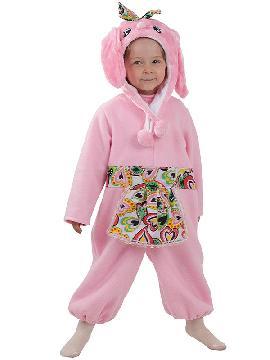 disfraz de conejito rosa bebe. Compra tu disfraz barato infantil para tu grupo. Este traje es ideal para tus fiestas temáticas de conejito y animales y bebes
