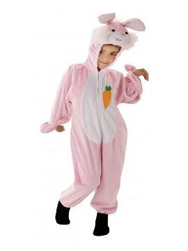 disfraz de conejo rosa niña. Podrás convertir a los más pequeños de la casa en este dulce y tierno animalito del bosque, con este traje calentito en Carnaval o Fiestas de la Guardería o Cumpleaños. Este disfraz es ideal para tus fiestas temáticas de disfraces de animales
